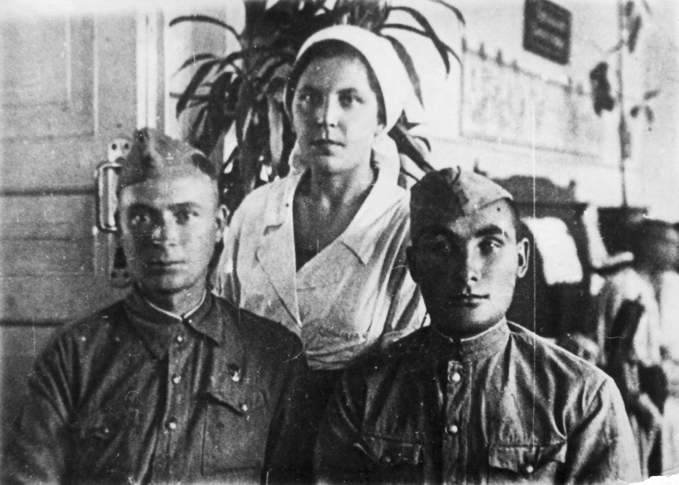 В госпитале 2551 перед возвращением в строй. 1942г.