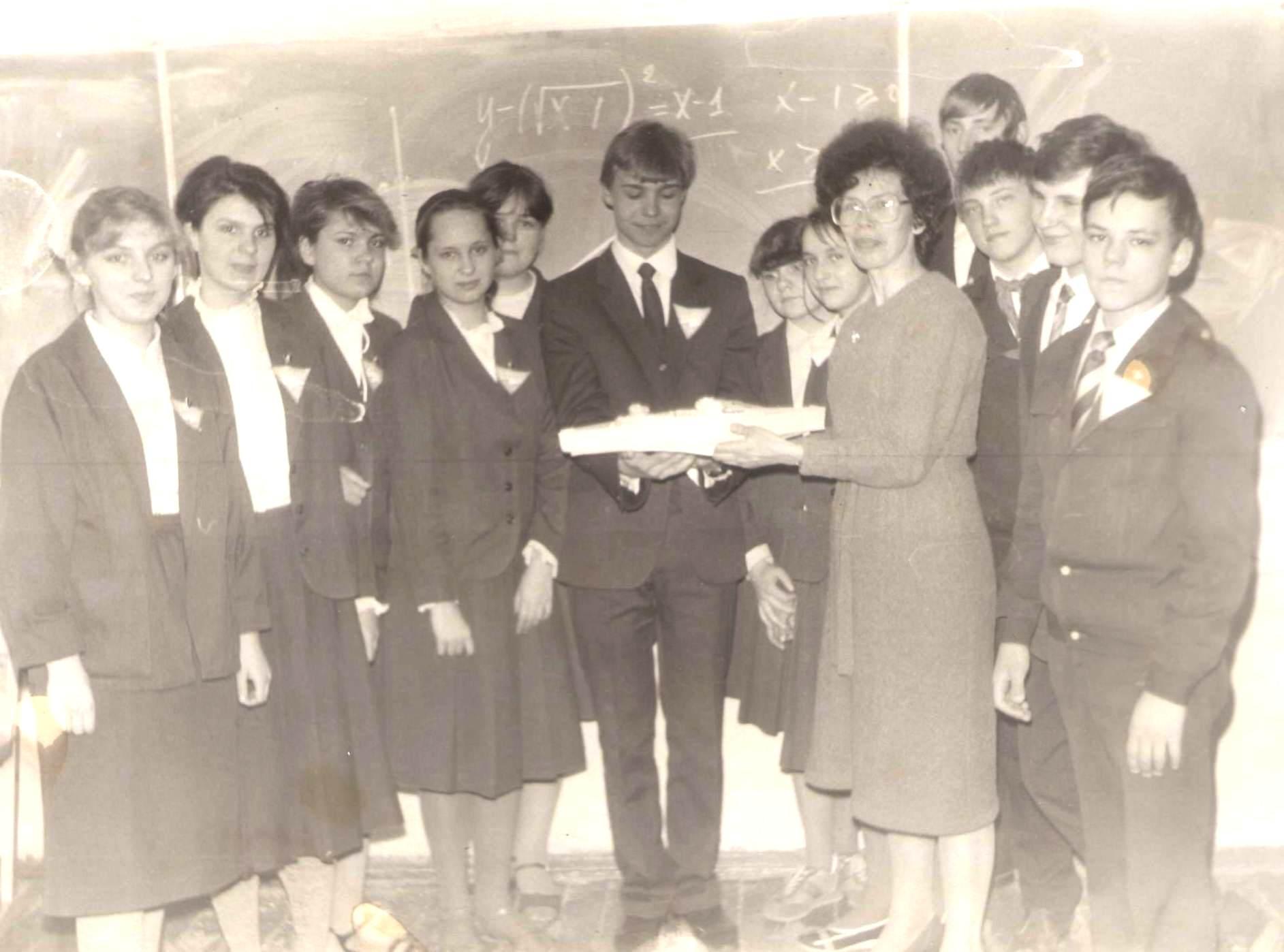 Команда победителей Математического боя - 1986