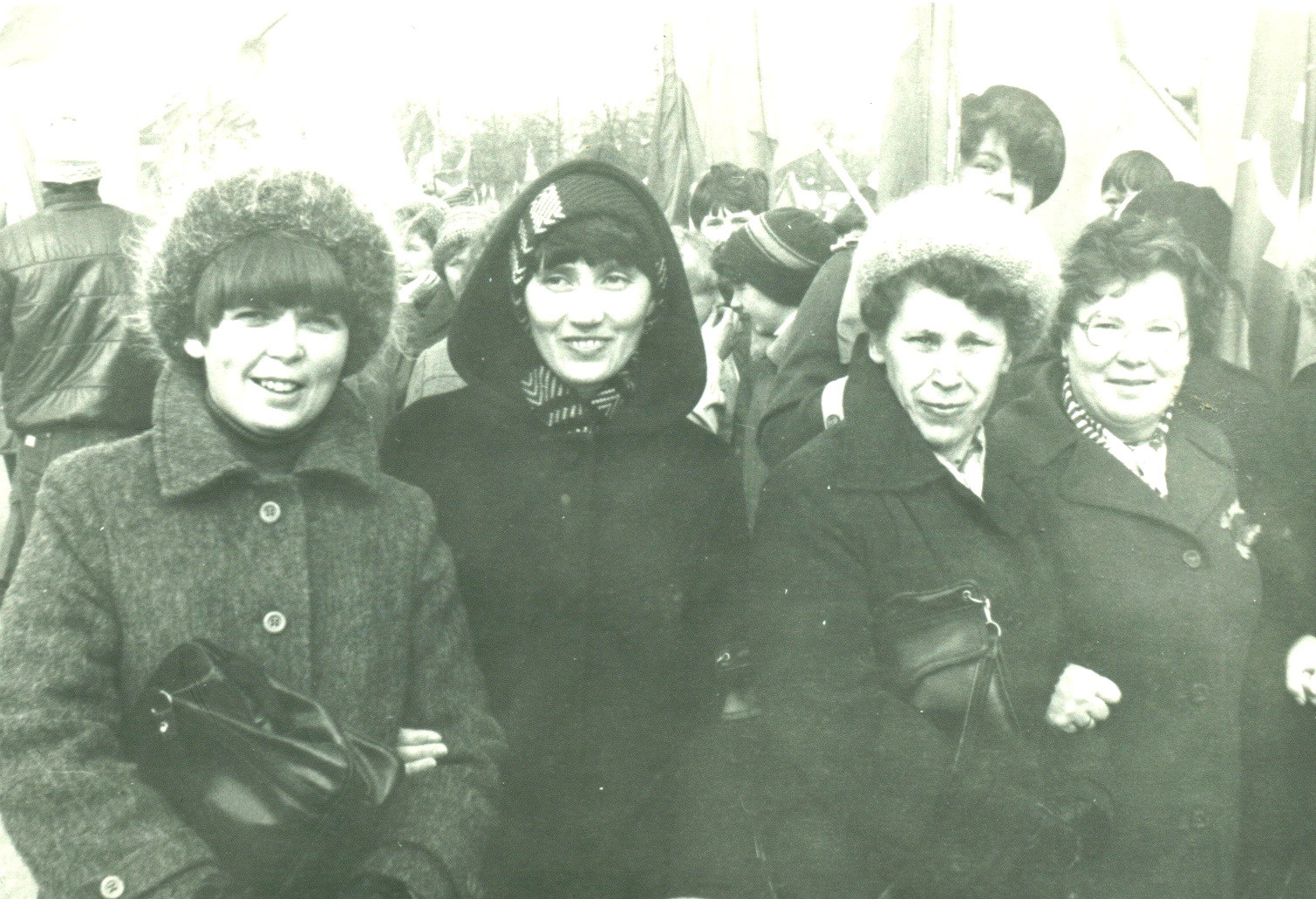 На первомайской демонстрации. 1983 год