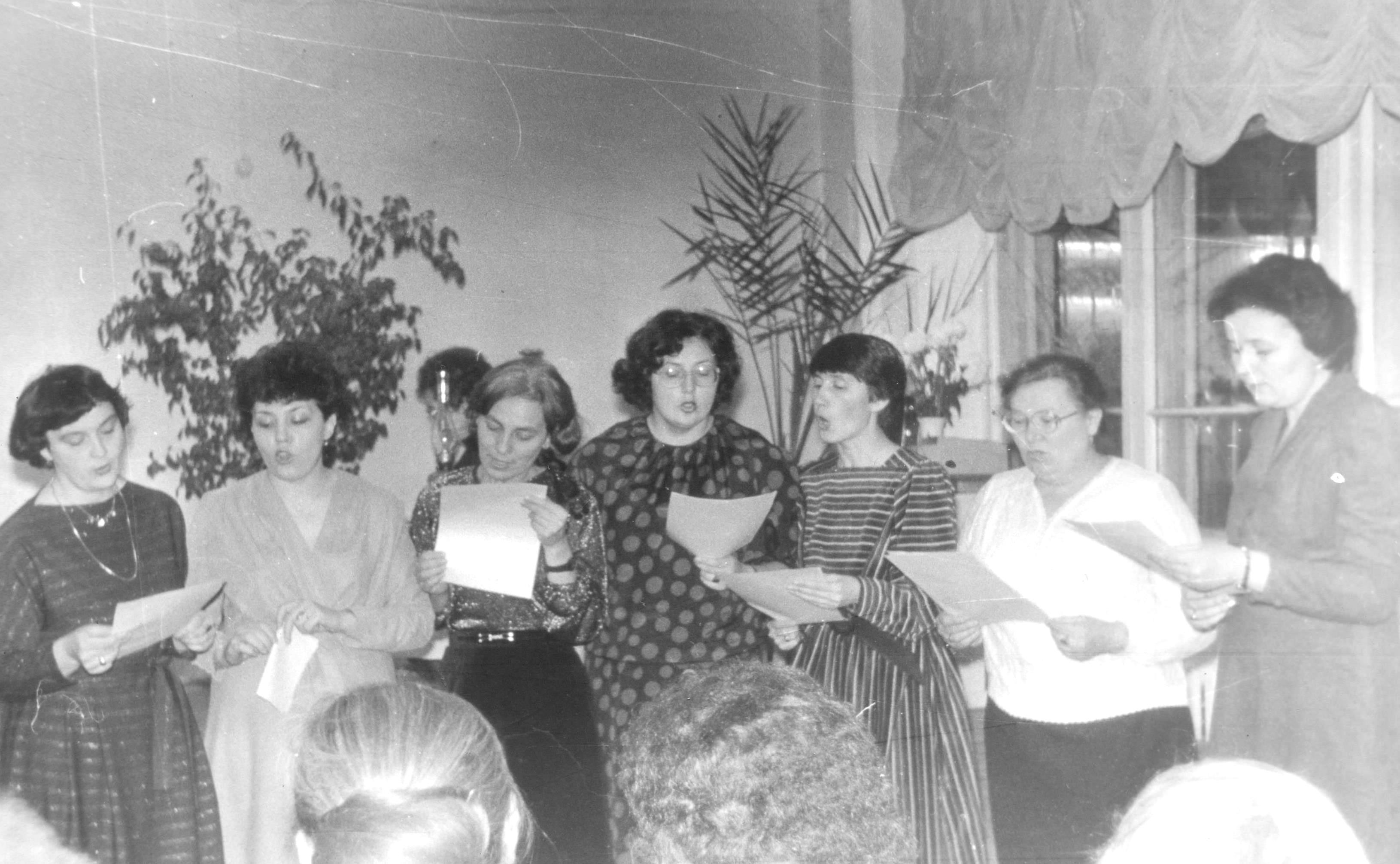 На юбилее В.Е.Евтехова март 1987 год