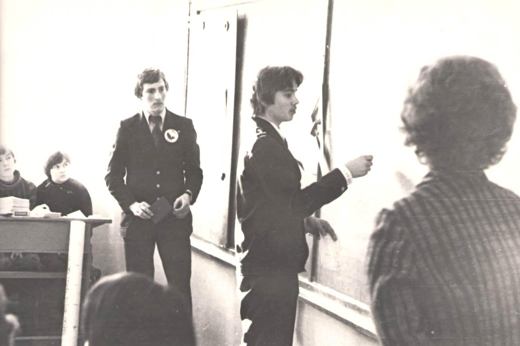 В бою Сергей Швецов и Виктор Шубин. 1980 год