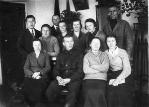 Проводы В.В. Абрамова в армию.30-е годы.