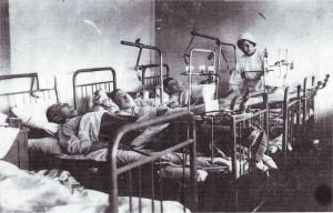В госпитальной палате.