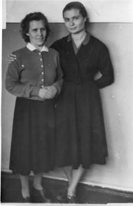 Учителя школы 50-х годов Задорина Галина Александровна  и  Бессонова Лидия Александровна