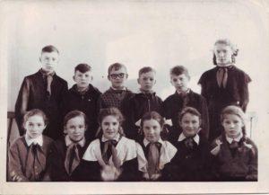 Группа учащихся. 60-е годы